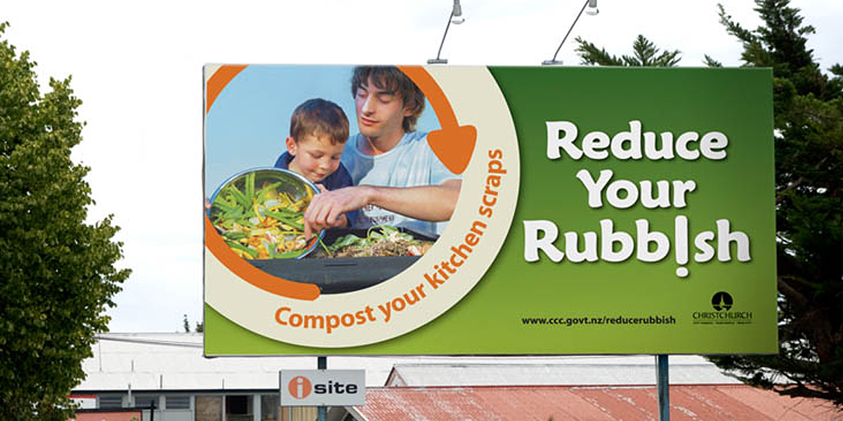 council reduce your rubbish billboard