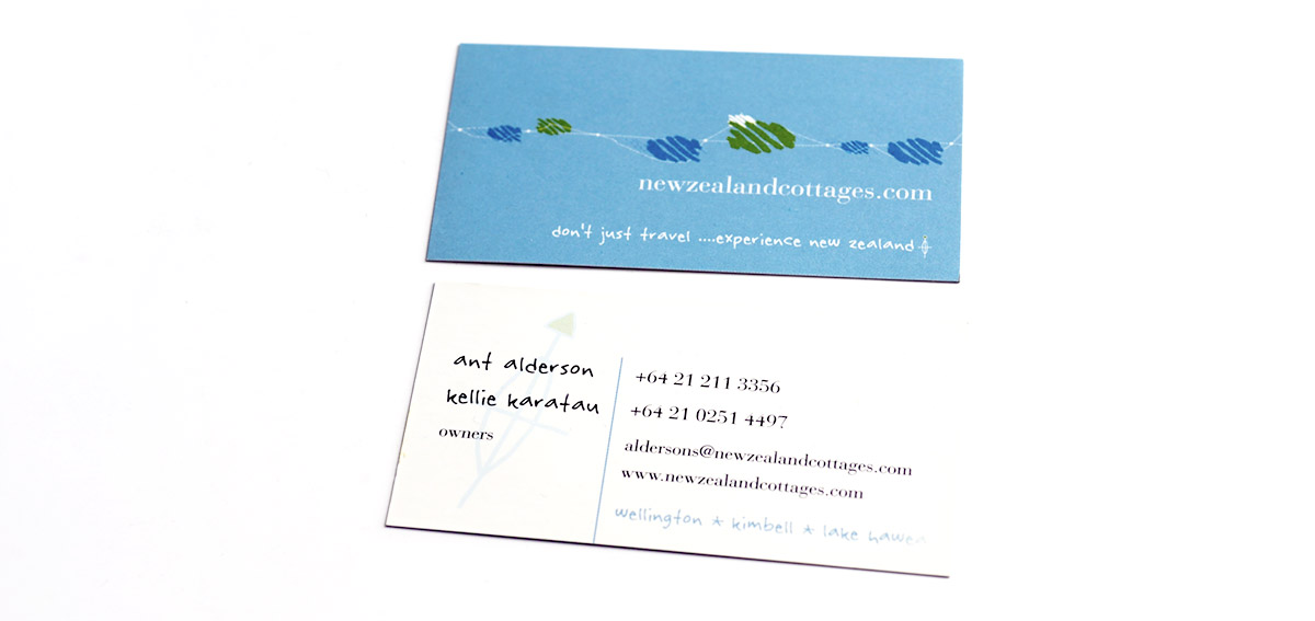 NZ Cottages Business Card