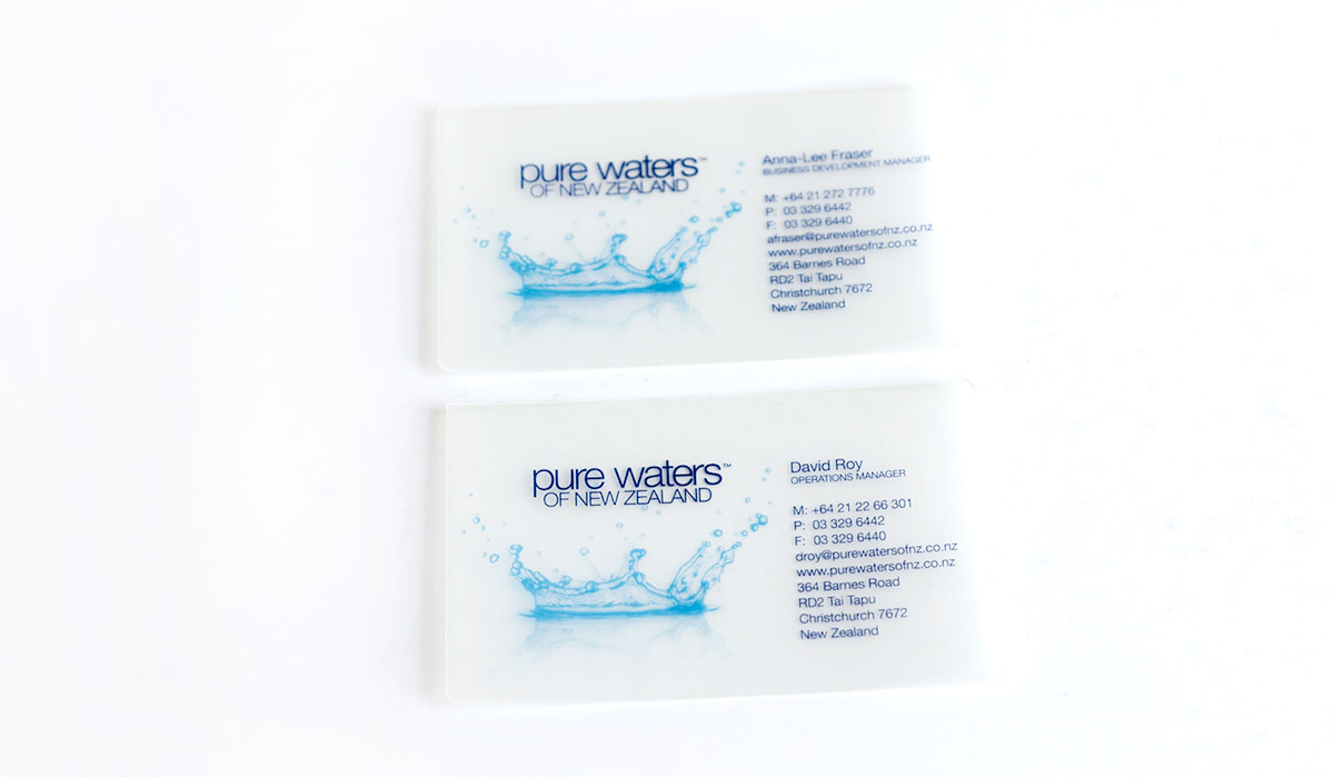 Pure Waters Business Card