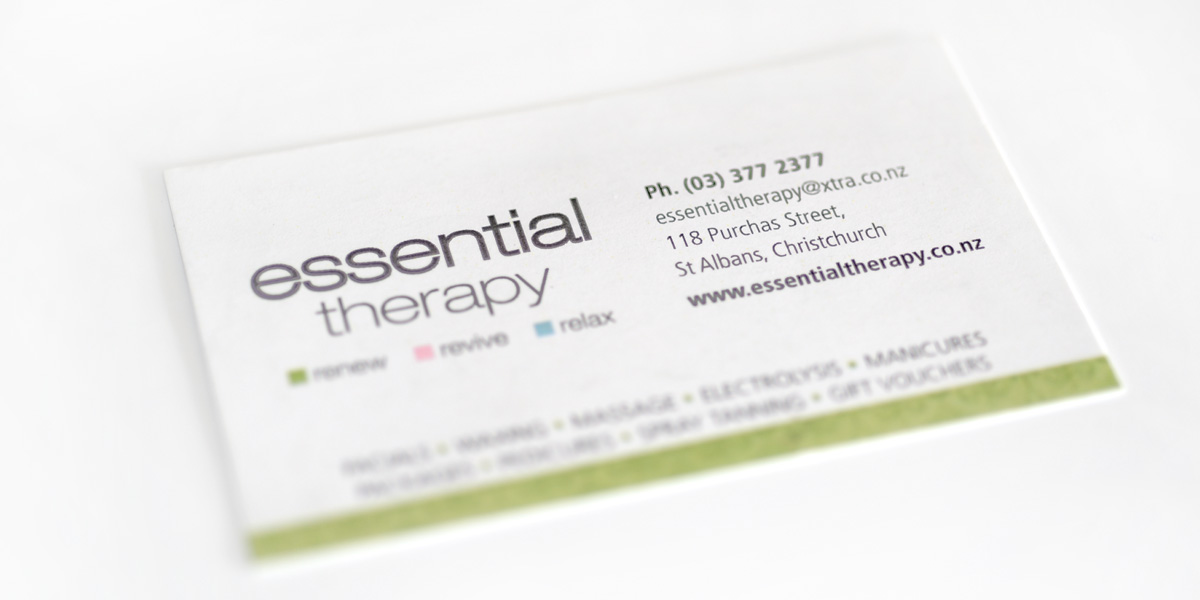 essential therapy business card